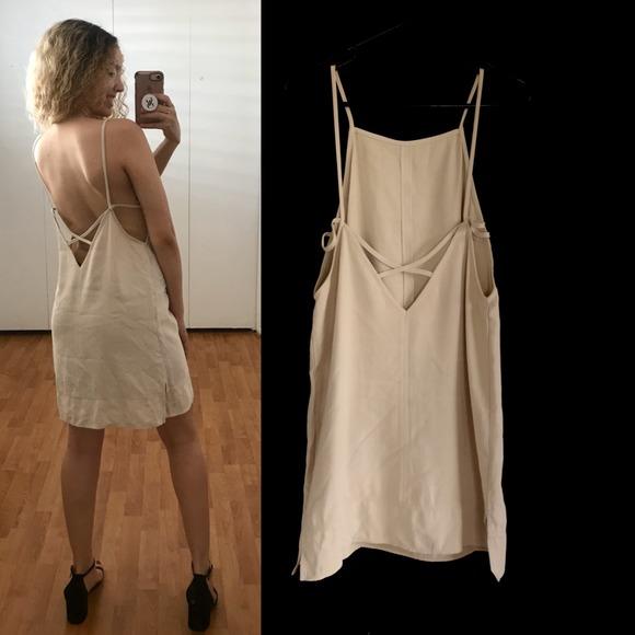 FOREVER 21 Dresses & Skirts - Forever21 Mini Dress Beige Size Small